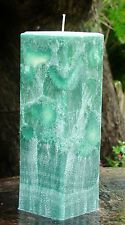 200hr TROPICAL LIME COOLER Triple Scented Square PILLAR CANDLE HOME FRAGRANCES