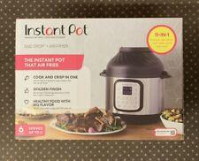 NEW Instant Pot Duo Crisp 6 Qt 11-in-1 1-Touch Pressure Cooker & Air Fryer Lid