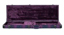 Universal Bass Guitar Hard Case Finished in Purple - Ideal for Fender/Warwick