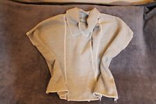Ladies BNWT Wooly Cardigan Sleeveless Chunky Cape Jacket George Size Medium