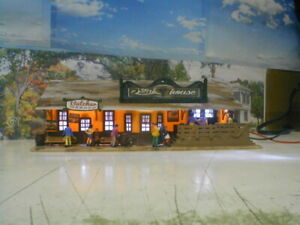 HO scale Restaurant Western detailed painted and weathered TYCO POLA w/lights