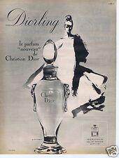 Publicité Advertising 026 1964 Christian Dior Diorling le nouveau parfum