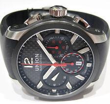 2.580.-€ NEU; Union Glashütte Belisar Automatik, Black-Carbon, Sport-Chronograph