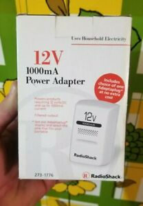 Genuine Radio Shack (273-1776) 12V 1000mA AC to DC Power Adapter New in Box