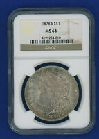 1878 S NGC MS63 Morgan Silver Dollar $1 Better Date 1878-S NGC MS-63