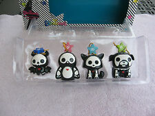 Skelanimals 4 Piece Christmas Ornament Set~New In The Box!