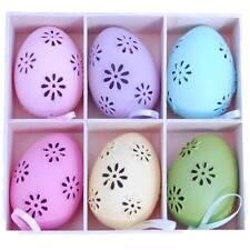 Gisela Graham Easter Egg Decorations - Daisy Cut Out - Hanging Easter Decs
