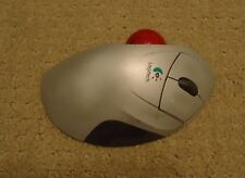 AS IS UNTESTED NO RECEIVER Logitech Gray Cordless Trackman Wheel Trackball 0682