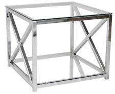 Beistelltisch Glastisch Couchtisch Sofatisch Metall/Glas Farbe: Chrom