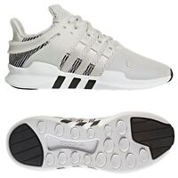 adidas MEN'S EQT SUPPORT ADV TRAINERS WHITE SHOES SNEAKERS RUNNING 3 STRIPES GYM