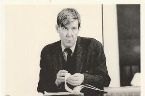 Wonderful Yorkshire Writer ALAN BENNETT b1934 signed white card & NT pic