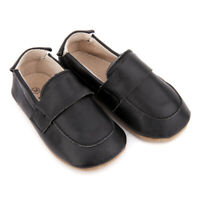 NEW SKEANIE Pre-walker Leather Loafers Black. 0 to 2 years.