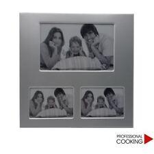 Cornice porta 3 foto multiplo in alluminio da appoggio tavolo