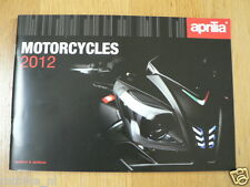 D202 APRILIA MOTORCYCLES 2012 MODELS BROCHURE,PROSPEKT ENGLISH 40 PAGES
