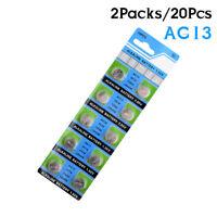 AG13 LR44 LR1154 SR44 A76 A 303 357 Alkaline Coin Cell Button Battery 20Pcs 753