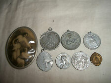 LOT OF 8 ANTIQUE CHRISTIANITY MEDALS JESUS MARY ST. GERARD