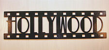 Hollywood, New Metal Wall Art, Home Theater Decor, Contemporary Movie Sign