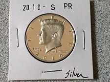 2010 S SILVER GEM PROOF KENNEDY HALF DOLLAR 90% SILVER