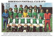 HIBERNIAN F.C. (HIBS) TEAM PRINT 1974 (CROPLEY/HARPER/BREMNER/O'ROURKE)