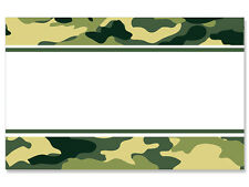 50ct. Green Camo Camouflage Border Blank Florist Enclosure Cards Small Tags