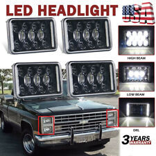 "DOT 4""X6"" 170W LED Headlights Sealed Beam DRL For Chevy C10 Pickup 81-1987 Truck"