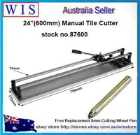 "24""(600mm) Manual Tile Cutter Home Pro Tile Cutting Machine w Free Cutter Wheel"