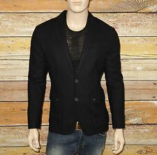 NEW John Varvatos Star USA Field Jacket Dark Navy Size 38 Wool-Viscose $498.00