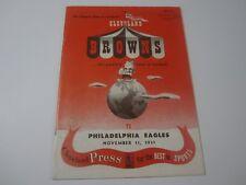 1951 CLEVELAND BROWNS vs Philadelphia Eagles Game Official Souvenir Program