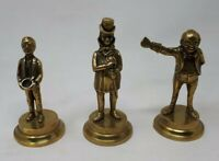 Vintage Solid Brass Charles Dickens Characters 12, 13 & 14 cms