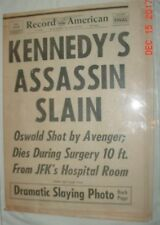 KENNEDY ASSASSINATED DAY 4 RECORD AMERICAN 11/25/63 OSWALD KILLED BOSTON PHOTOS
