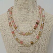 10mm Watermelon Red Tourmaline Gemstones Round Beads necklace 36 Inch
