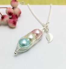 Peas in a Pod Family Necklace Mum Grandma Baby Shower Sister Friend Gift Boxed