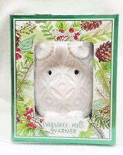 1 Bath & Body Works White Barn Ceramic OWL Fragrance Melts Wax Tarts Warmer Unit