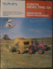KUBOTA DIESEL TRACTOR  M4900 / M5700 / M6800 / M8200 / M9000  BROCHURE ORIGINAL