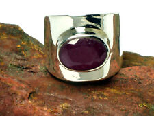RUBY  Sterling  Silver  925  Gemstone  RING  -  Size: M -  Gift Boxed
