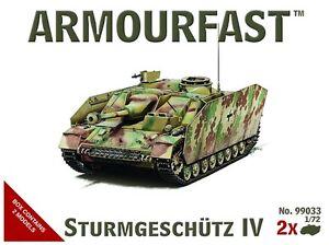Armourfast 99033 1/72 WWII German Sturmgeschutze IV - Stug IV - (2 Models)