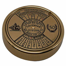 Authentic Models BC002 50 Year Calendar Perpetual Calendar Highly Polished Brass