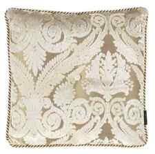 DESIGNERS GUILD FABRIC ROYAL COLLECTION STUART DAMASK IVORY CUSHION COVER + TRIM