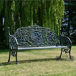 Large Rustic 'Artemis' Ornate Bench