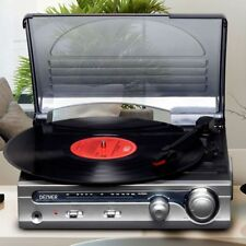 VPR-130 Record Player Vinyl Turntable FM Radio & Built In 3W Speakers