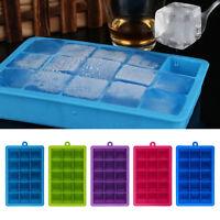15-Cavity Large Ice Cube Tray Maker Mold Mould Tray Kitchen DIY Jelly Tool