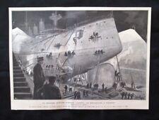Incrociatore giapponese Yakumo + Port Arthur (oggi Lüshunkou) Stampa del 1905