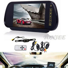 HD 7'' LCD Mirror Monitor+Wireless Night Car Reverse Rear View Backup Camera NEW