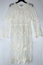 Lovecat Off White Lace Indian Summer Dress, Small