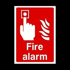 Fire Alarm Plastic Sign OR Sticker - A6 A5 A4 (FE8)