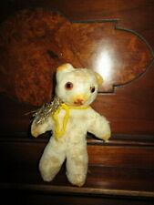 Antique Cotton ornament -Teddy bear  -Glass eyes -Christmas tree /Germany