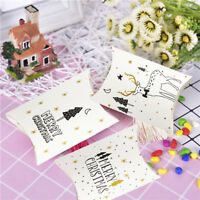 Present Pouch Christmas Paper Candy Boxes Pillow Shape Box Kraft Gift Bag