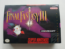 SNES SUPER NINTENDO FINAL FANTASY III NTSC CIB *EXCELLENT*