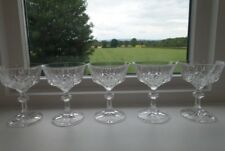 5 x Vintage Cut Glass Champagne Coupe Saucer Glasses - Lovely!