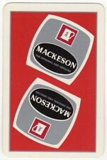 Playing Cards 1 Swap Card - Old Vintage MACKESON Stout Beer Brewery Advertising